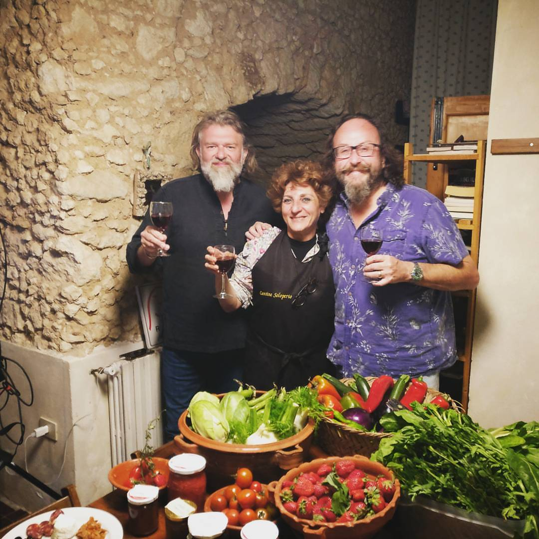 BBC's Hairy Bikers visit to Torre Galli